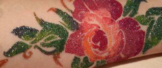 Что такое глиттер тату - изображение записи