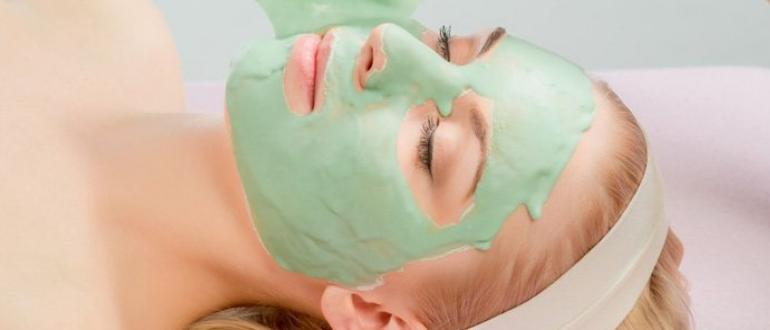 Альгинатная маска для лица изображение записи